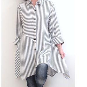 Soft Surroundings Striped Asymmetrical Tunic